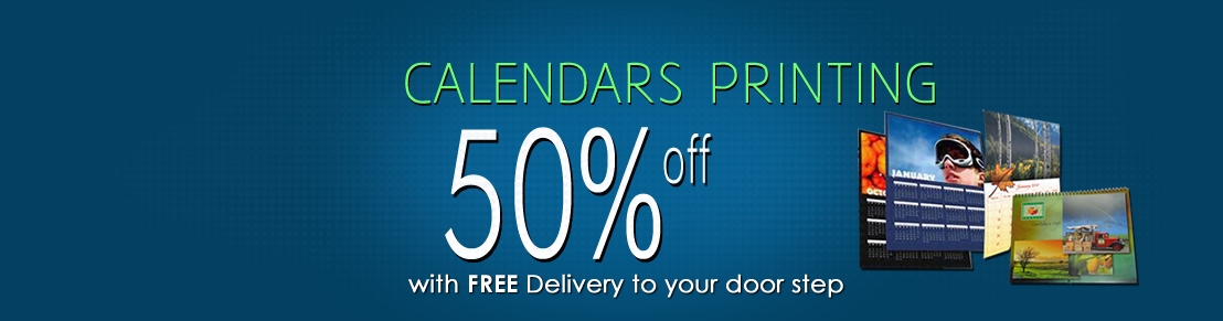 50% Discount on Calendar Printing