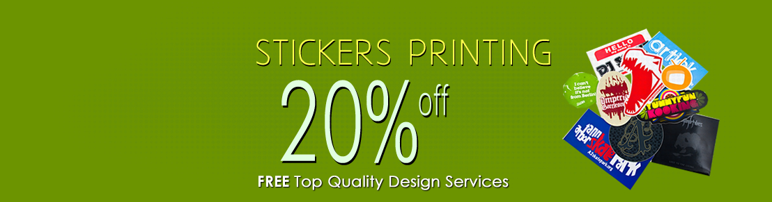 20% Discount on Stickers Printing